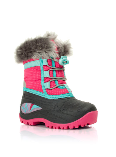 Blaze fuchsia girls butterfly winter boots with lights