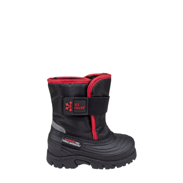 black insulated waterproof infants boots