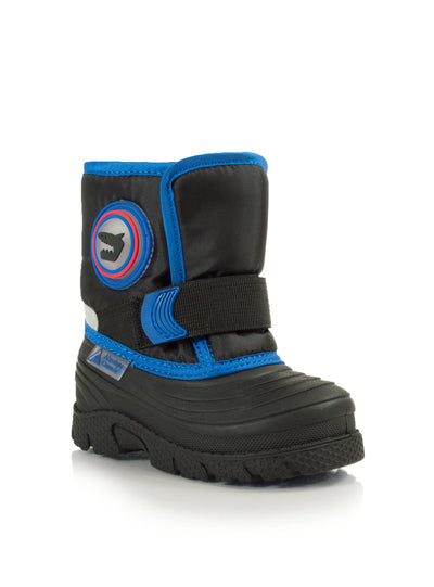 Cub blue cute boys shark winter boots with lights