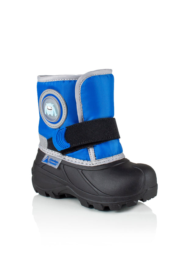 Cub 2 blue cute boys yeti winter boots with lights