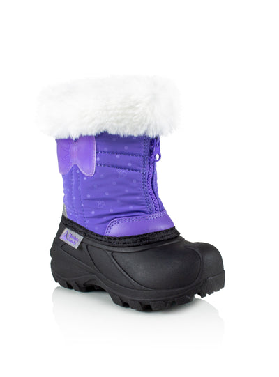 Eden 2 lavender cute girls bow winter boots with lights