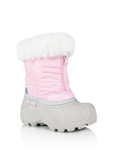 Eden 2 pink cute girls bow winter boots with lights