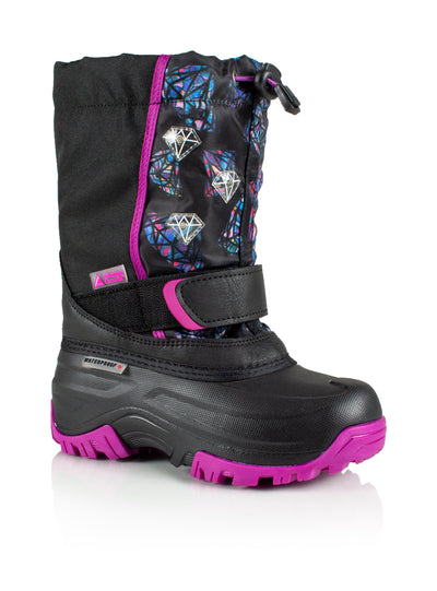 Frosty 2 fuchsia cute girls winter boot with lights