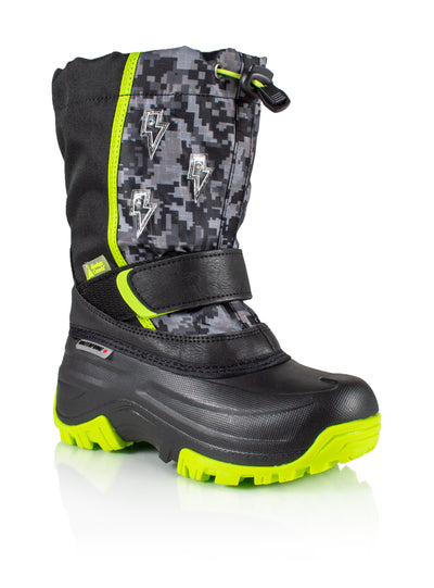 Frosty 2 lime boys winter boot with lights