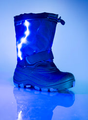 Lightbolt2 purple kids winter boot with lights