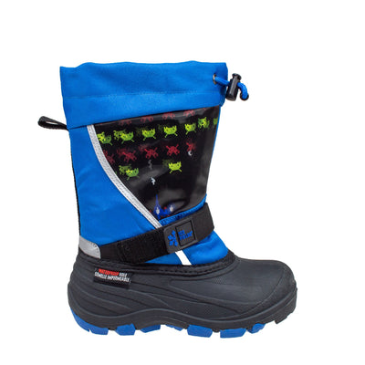 blue lenticular fun light up warm kids winter boots