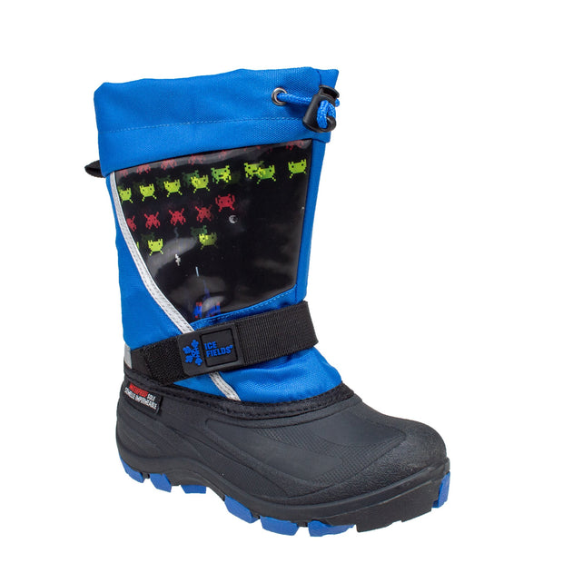 blue_alternate lenticular fun light up warm kids winter boots