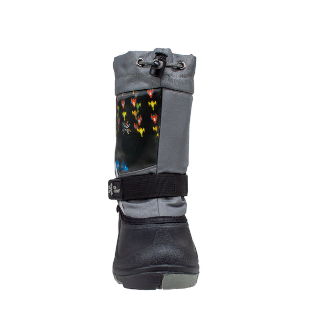 grey lenticular fun light up warm kids winter boots