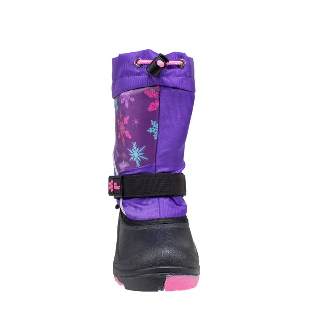 purple lenticular fun light up warm kids winter boots