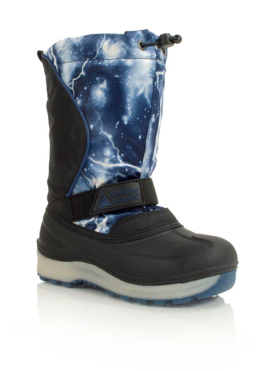 Nebula blue kids winter boot with lights