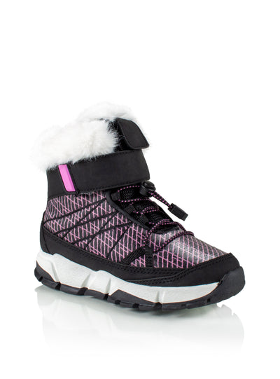 Riley fuchsia kids cool waterproof sneaker boot with lights