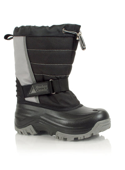 Snowblocker grey kids winter waterproof boot