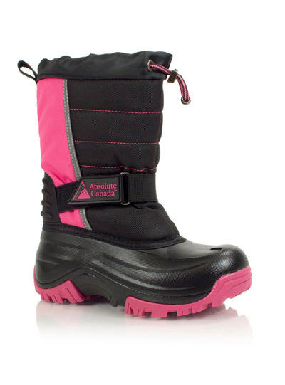 Snowblocker pink kids winter waterproof boot