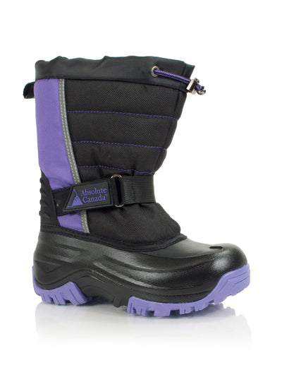 Snowblocker purple kids winter waterproof boot
