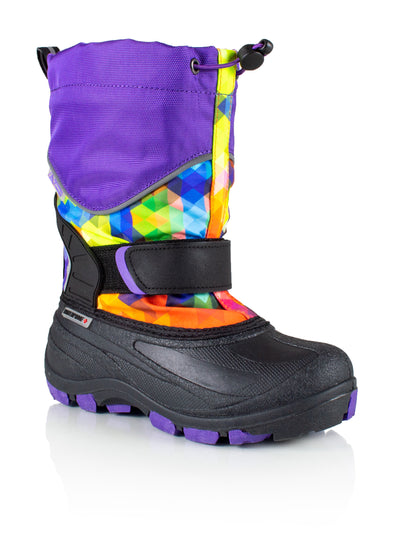 Snowblocker 2 multi-purple girls warm waterproof boots