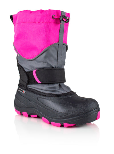 Snowblocker 2 pink girls warm waterproof boots