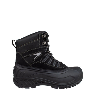 black insulated men's winter boots