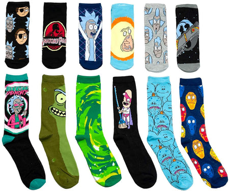 Calcetas divertidas unisex N370 Calcetas divertidas unisex rick morty simpson dragon y mas