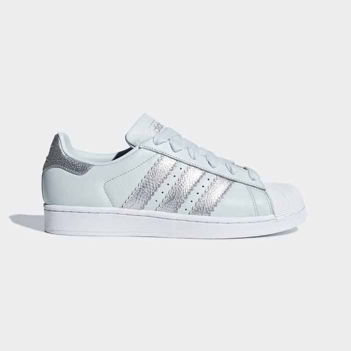 N370 Adidas concha Super Star originals gray stripes tiras plata