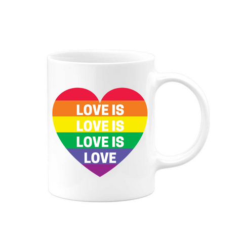Love Is Heart Mug