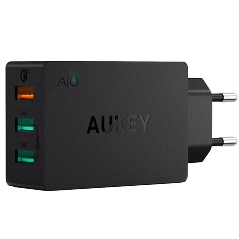3-Port 42W QC3.0 Wall Charger + Cable