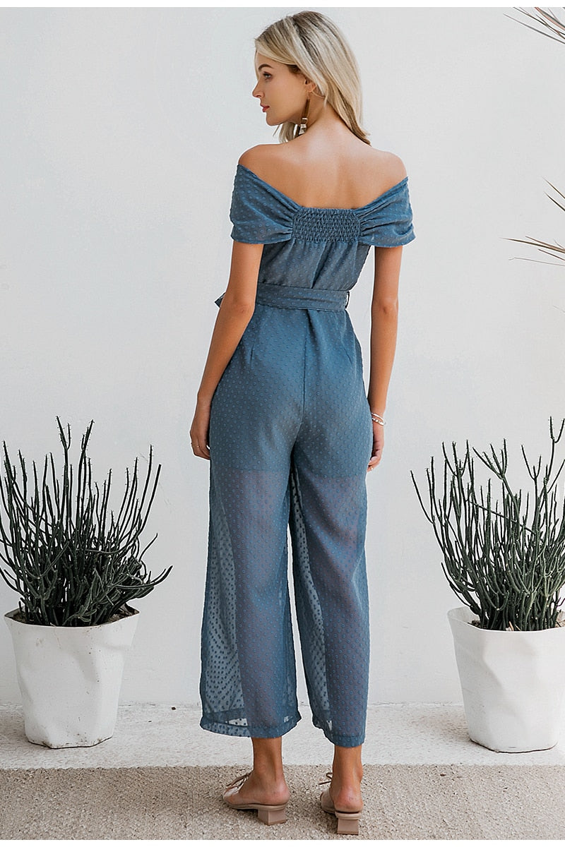PINTY OFF SHOULDER JUMPSUIT