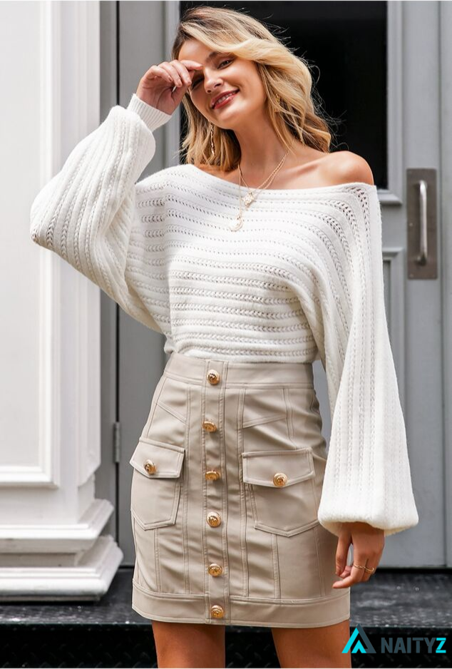 HADIK OFF SHOULDER SWEATER