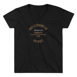 Authentic Detroit - Women's V-Neck