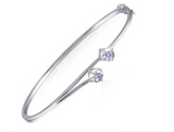 doveggs moissanite platinum plated silver 1.6 carat g-h-i color round moissanite bracelet bangle