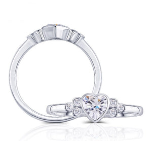 side-stone moissanite ring