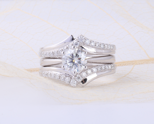 bridal set moissanite ring
