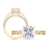 doveggs cushion moissanite ring/lab grown diamond engagement ring