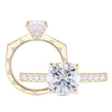 doveggs cushion vintage channel set moissanite ring/lab diamond engagement ring