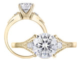 doveggs round tension moissanite ring/lab grown diamond engagement ring