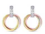 doveggs moissanite 14k white gold yellow gold and rose gold 0.26 carat moissanite hoop earring