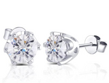doveggs moissanite 14k white gold 2 carat gh color round moissanite stud earring