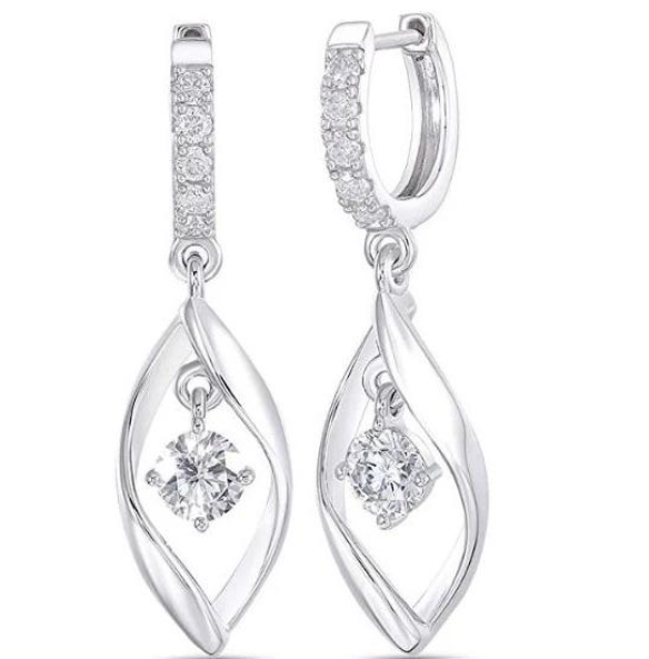 doveggs moissanite 10k white gold post 1 carat round moissanite sterling silver hoop earrings