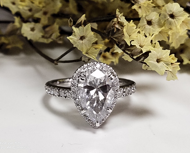 halo moissanite ring
