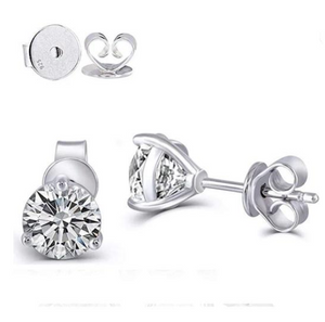 doveggs moissanite 1.6 carat g-h color round moissanite sterling silver earring