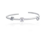 doveggs moissanite  platinum plated silver 1 carat  g-h-i color moissanite bracelet bangle