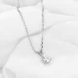 doveggs platinum plated silver 1.5 carat gh color pear moissanite pendant necklace