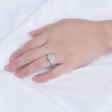 doveggs radiant side stone moissanite ring for women