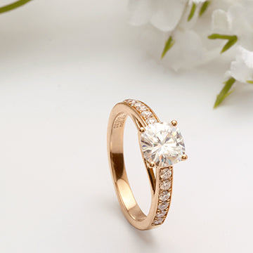 doveggs cushion half eternity channel set moissanite ring/lab diamond engagement ring
