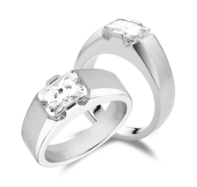 men moissanite engagement ring