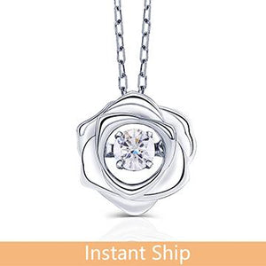 doveggs diamond 18k white gold center 0.15 carat diamond pendant necklace DovEggs-Seattle