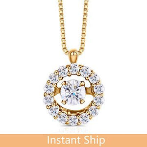 doveggs diamond 18k yellow gold center 0.18 carat diamond pendant necklace DovEggs-Seattle