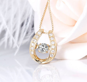 doveggs diamond pendant necklace 18k yellow gold center 0.2 carat diamond pendant necklace for women - DovEggs-Seattle