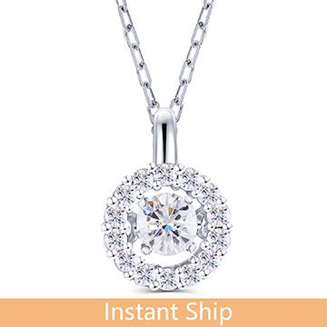 doveggs diamond platinum center 0.05 carat diamond pendant necklace DovEggs-Seattle