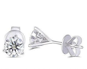 doveggs moissanite 14k white gold 1.6 carat g-h-i color round moissanite stud earring DovEggs-Seattle