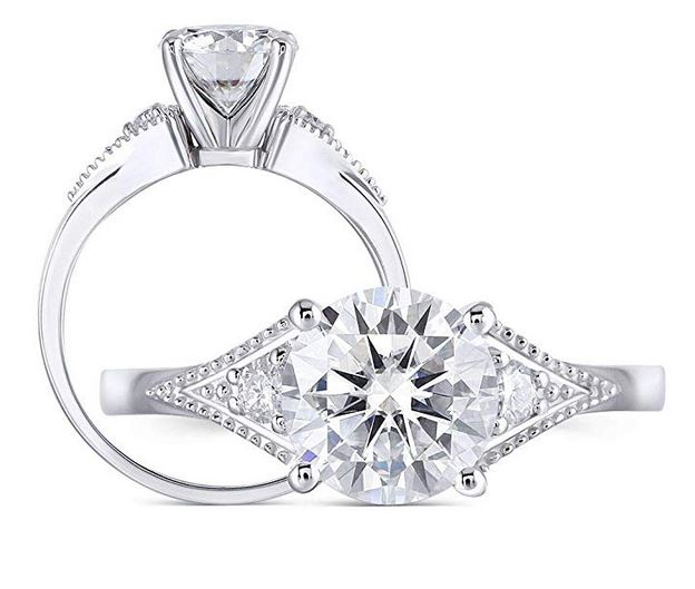 tension moissanite ring